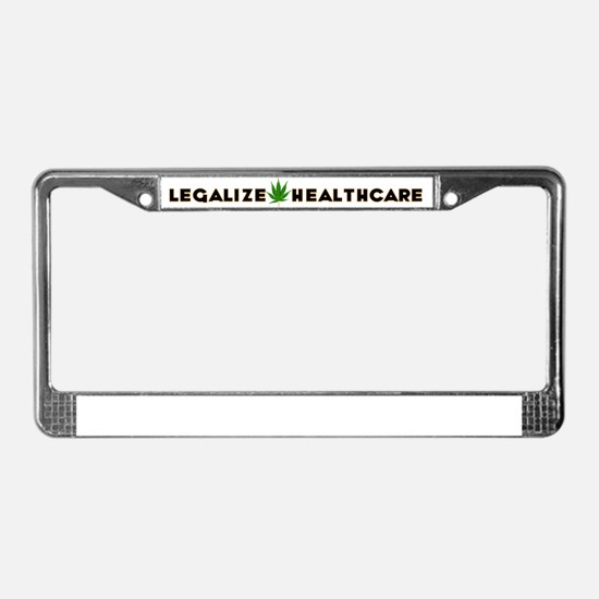 Legalize Healthcare2 License Plate Frame