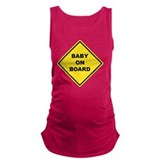 Baby kids family Dark Maternity Tank Top