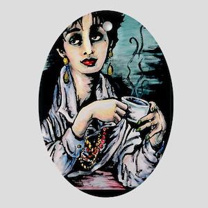 Coffee, 11x17 Print Oval Ornament