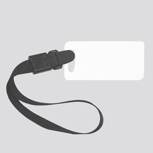 derby-fish-white Small Luggage Tag