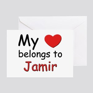 My heart belongs to jamir Greeting Cards (Package