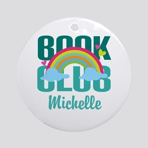 Personalized Book Club Gift Ornament (Round)