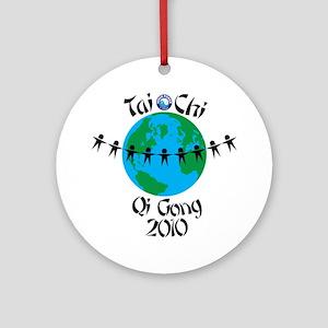 WorldTaiChi Round Ornament