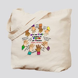 give our kids button Tote Bag