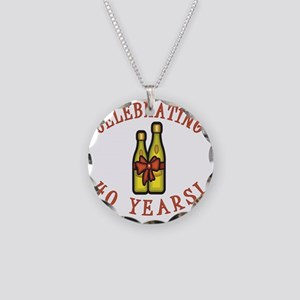 WineBow 40 Necklace Circle Charm