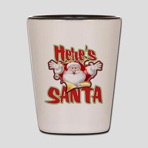 Here's Santa Shot Glass