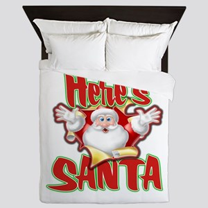 Here's Santa Queen Duvet