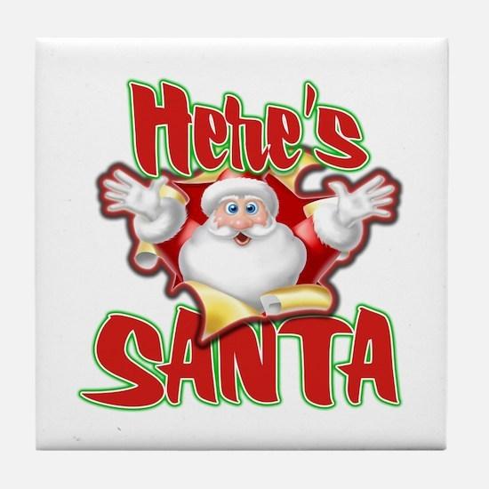 Here's Santa Tile Coaster