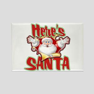 Here's Santa Rectangle Magnet