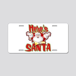 Here's Santa Aluminum License Plate