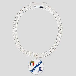 3-france Charm Bracelet, One Charm