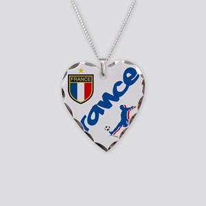 3-france Necklace Heart Charm