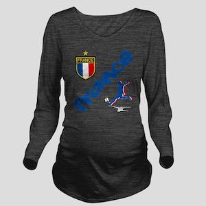 3-france Long Sleeve Maternity T-Shirt