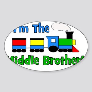 train_imthemiddlebrother Sticker (Oval)