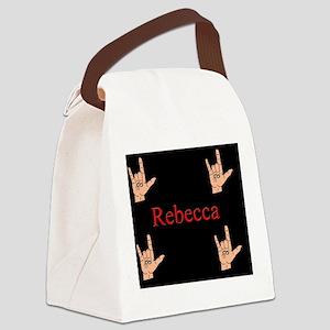 rebeccamousepad3 Canvas Lunch Bag