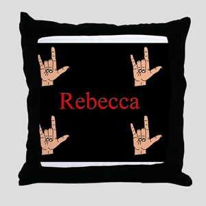 rebeccamousepad3 Throw Pillow