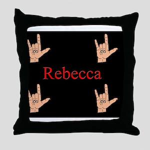 rebeccamousepad3 Throw Pillow