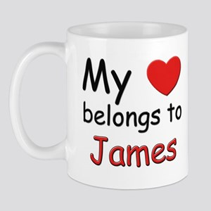 My heart belongs to james Mug