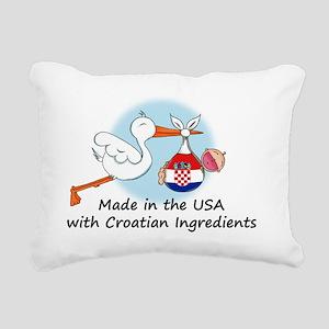 stork baby croatia 2 Rectangular Canvas Pillow