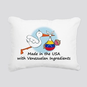 stork baby venez 2 Rectangular Canvas Pillow