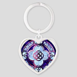 TalleyOpal Heart Keychain