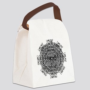 DamnedWritersBlock Canvas Lunch Bag