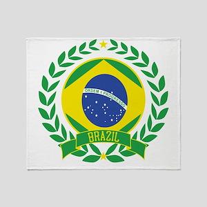 brazilwreath Throw Blanket