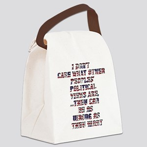 Policticalview Canvas Lunch Bag