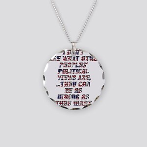 Policticalview Necklace Circle Charm