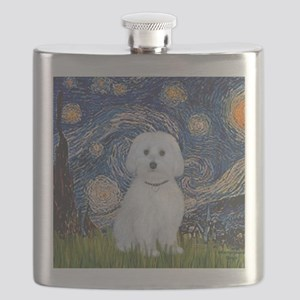 SFP-Starry Night - Maltese (B) Flask