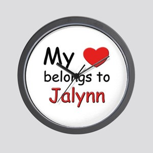 My heart belongs to jalynn Wall Clock
