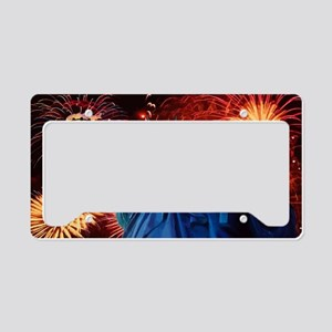 Lady_Liberty_Oval_Sticker License Plate Holder