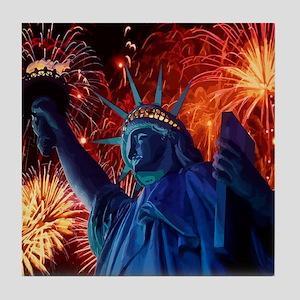 Lady_Liberty_9.25x7.75 Tile Coaster