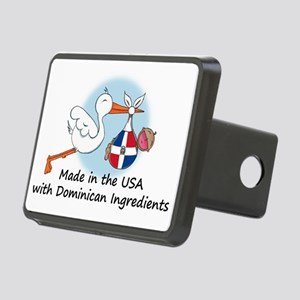 stork baby domin 2 Rectangular Hitch Cover