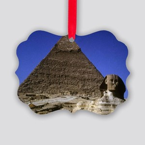 sphinx and pyramid Picture Ornament