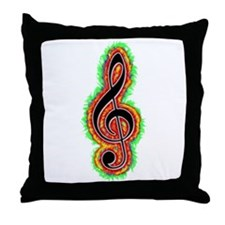 Treble Throw Pillow