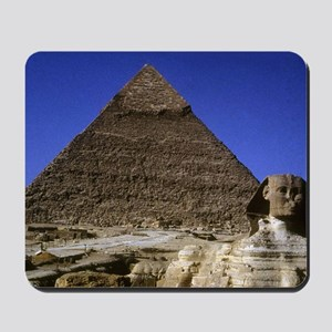 sphinx and pyramid12x18 Mousepad