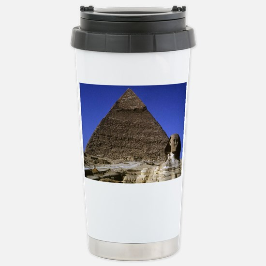 sphinx and pyramid12x18 Stainless Steel Travel Mug