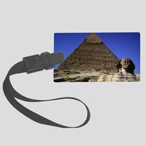 sphinx and pyramid12x18 Large Luggage Tag