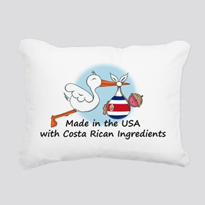 stork baby costa 2 Rectangular Canvas Pillow