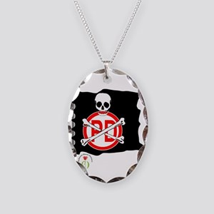 pirates-flag Necklace Oval Charm