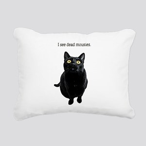 I See Dead Mousies Rectangular Canvas Pillow