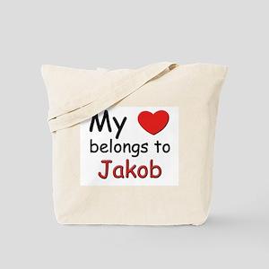 My heart belongs to jakob Tote Bag