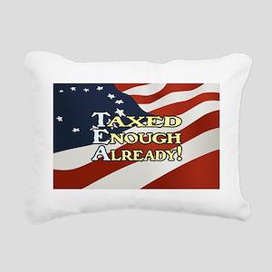 2-taxedenough_cpstkr_alt Rectangular Canvas Pillow