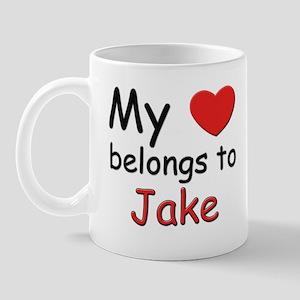 My heart belongs to jake Mug