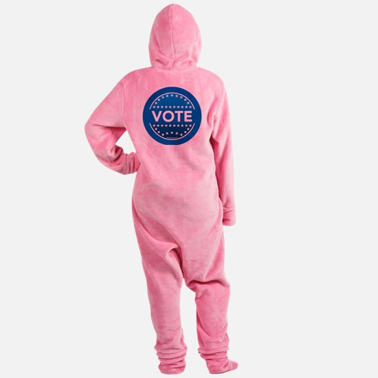 btn-blue-vote Footed Pajamas