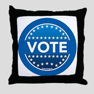 btn-blue-vote Throw Pillow