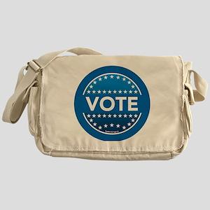 btn-blue-vote Messenger Bag