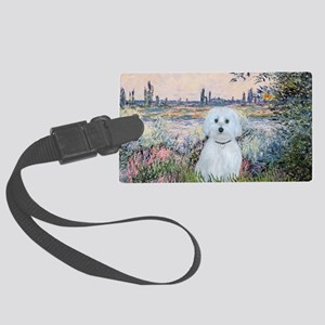 MP-By the Seine - Maltese (B) Large Luggage Tag