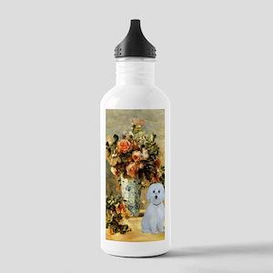 Vase - Maltese (B) Stainless Water Bottle 1.0L
